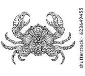 zen tangle stylized... | Shutterstock . vector #623649455