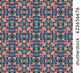a colored pattern of square... | Shutterstock .eps vector #623656676