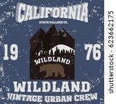 california vintage style... | Shutterstock .eps vector #623662175