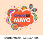 cinco de mayo   may 5  federal... | Shutterstock .eps vector #623664785