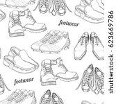 vector illustration of hand... | Shutterstock .eps vector #623669786