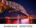 sydney skyline with views of... | Shutterstock . vector #623671502