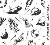 astronaut space traveling... | Shutterstock .eps vector #623674652