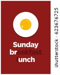 sunday breakfast and lunch... | Shutterstock .eps vector #623676725