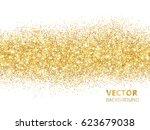 sparkling glitter border... | Shutterstock .eps vector #623679038
