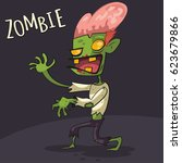 Zombie Cartoon Vector Characte...