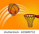 basketball pop art style vector ... | Shutterstock .eps vector #623680712