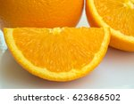 orange on which background. | Shutterstock . vector #623686502
