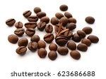 close up view of coffee beans... | Shutterstock . vector #623686688