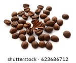 coffee bean isolated | Shutterstock . vector #623686712