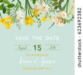 save the date summer and spring ... | Shutterstock .eps vector #623692382