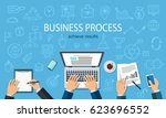 business process. developer... | Shutterstock .eps vector #623696552