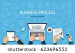business process. developer... | Shutterstock .eps vector #623696552