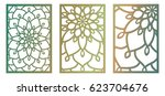 set of vector laser cut panels. ...   Shutterstock .eps vector #623704676