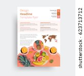design of the universal flyer... | Shutterstock .eps vector #623713712