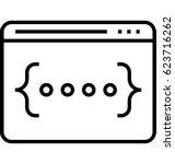 css code vector icon | Shutterstock .eps vector #623716262