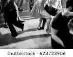 vintage style photo of dance... | Shutterstock . vector #623723906