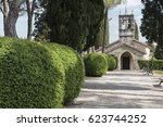 church of st. euphemia. when... | Shutterstock . vector #623744252