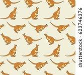australian kangaroo animals....   Shutterstock .eps vector #623746376