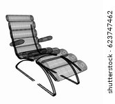 medical chair for cosmetology.... | Shutterstock . vector #623747462