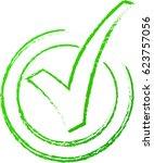 illustration of green check...   Shutterstock .eps vector #623757056