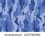 blue camouflage pattern | Shutterstock .eps vector #623760482