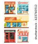 fast food restaurant and... | Shutterstock .eps vector #623760512