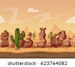 vector cartoon horizontal... | Shutterstock .eps vector #623764082