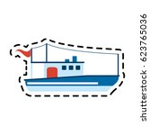 ship icon image  | Shutterstock .eps vector #623765036