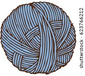 blue hank of yarn. isolated on... | Shutterstock .eps vector #623766212