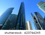 skyscrapers in the financial... | Shutterstock . vector #623766245