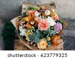 colorful  bouquet of different... | Shutterstock . vector #623779325