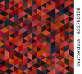 abstract geometric colorful... | Shutterstock . vector #623780108