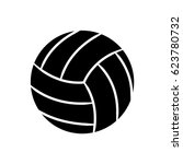 contour ball to play volleyball ... | Shutterstock .eps vector #623780732