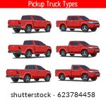 car truck pickup  | Shutterstock .eps vector #623784458