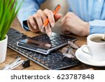 business accounting  | Shutterstock . vector #623787848