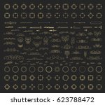 a huge rosette wicker border... | Shutterstock .eps vector #623788472