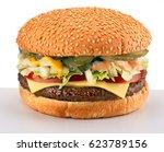 double cheeseburger   Shutterstock . vector #623789156