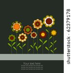 vector background with flowers. | Shutterstock .eps vector #62379178