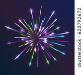 vector fireworks. abstract... | Shutterstock .eps vector #623792672