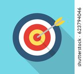 target with an arrow flat icon... | Shutterstock . vector #623794046