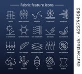 fabric and clothes feature line ... | Shutterstock . vector #623794082
