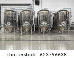 brewery. modern beer plant with ... | Shutterstock . vector #623796638