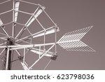 windmill  ibiza  spain in black ...
