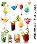 collection of colorful... | Shutterstock . vector #623799056