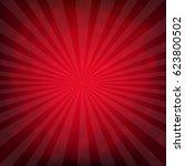 red burst poster with bokeh  | Shutterstock . vector #623800502