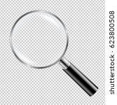 black magnifying glass  | Shutterstock . vector #623800508