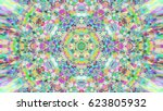 abstract colorful painted... | Shutterstock . vector #623805932
