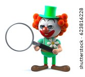3d render of a funny cartoon... | Shutterstock . vector #623816228
