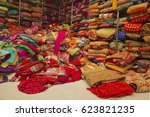 sari shop. indian traditional...   Shutterstock . vector #623821235